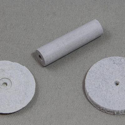 White rubber abrasives